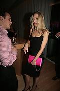 Imogen Lloyd Webber, Laurent Perrier Pop Art Pink party. Suka at Sanderson. Berners St. London. 25 April 2007.  -DO NOT ARCHIVE-© Copyright Photograph by Dafydd Jones. 248 Clapham Rd. London SW9 0PZ. Tel 0207 820 0771. www.dafjones.com.