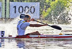 07.08.2014, Krylatskoe, Moskau, RUS, ICF, Kanu WM 2014, Moskau, im Bild Max Hoff (Essen) gewinnt den Vorlauf im KI 1.000m bei der Kanu-WM in Moskau 2014 // during the ICF Canoe Sprint World ?hampionships 2014 at the Krylatskoe in Moskau, Russia on 2014/08/07. EXPA Pictures © 2014, PhotoCredit: EXPA/ Eibner-Pressefoto/ Freise<br /> <br /> *****ATTENTION - OUT of GER*****