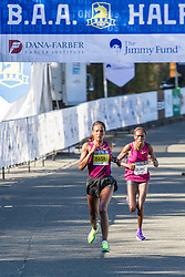 Boston Athletic Association Half Marathon, Mamitu Daska leads Cynthia Limo