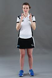 Umpire Louise Travis signalling short pass