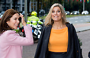 PRINCESS MAXIMA AND CROWNPRINCESS PRINCESS MARY IN THE HAGUE