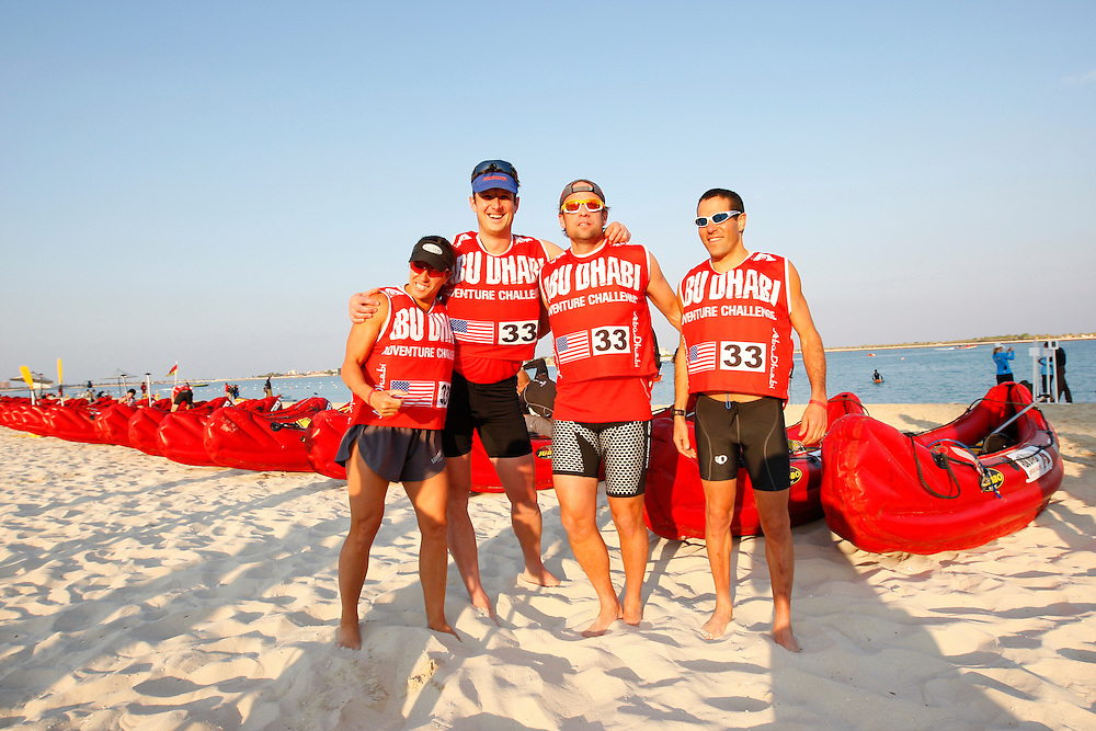 Yankee Scribes: (L-R) Sheila Taormina, Jonathan Dorn, Brian Metzler, Adam Chase..4th Annual Abu Dhabi Adventure Challenge..December 10th through December 15th, 2010. ..The Abu Dhabi Adventure Challenge (ADAC) is a 6 Day staged endurance race consisting of disciplines such as mountain biking, trekking, canoeing, sea kayaking, abseiling, running, and swimming. Coed teams of 4 will attempt to tame this beast of a course through the beautiful Emirate of Abu Dhabi, UAE..Photo by Chris Radcliffe