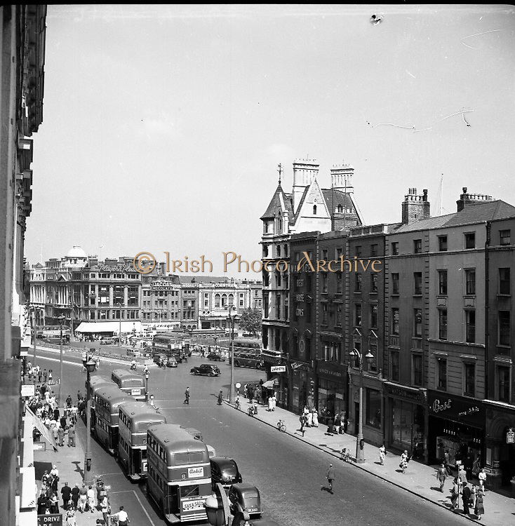 Views - Westmoreland St. and O'Connell Bridge.01/02/1957
