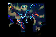 Dancers experience David Glowacki's Danceroom Spectroscopy interactive atomic art at Bristol's Arnolfini art centre.