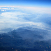 Aerial footage captured from an airplane window seat on a flight from Oakland, California to Orlando, Florida. (AP Photo/Alex Menendez)