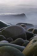Otter Cliffs Boulder Beach, Bar Harbor, ME (US) shot at slow shutter speed to render water like soft mist