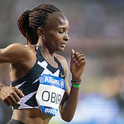 BRUSSELS, BELGIUM:  September 3:  Hellen Obiri of Kenya in action during the 5000m race for women during the Wanda Diamond League 2021 Memorial Van Damme Athletics competition at King Baudouin Stadium on September 3, 2021 in  Brussels, Belgium. (Photo by Tim Clayton/Corbis via Getty Images)