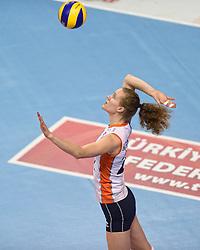 04-01-2016 TUR: European Olympic Qualification Tournament Nederland - Duitsland, Ankara <br /> De Nederlandse volleybalvrouwen hebben de eerste wedstrijd van het olympisch kwalificatietoernooi in Ankara niet kunnen winnen. Duitsland was met 3-2 te sterk (28-26, 22-25, 22-25, 25-20, 11-15) / Nicole Koolhaas #22