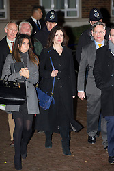 ©  London News Pictures.  04/12/2013. London, UK. Television cook, NIGELLA LAWSON leaving Isleworth Crown Court in London surrounded by police and her legal team, after giving evidence in the trial of two former personal assistants who worked for her and Charles Saatchi. Italian Sisters Elisabetta and Francesca Grillo are accused of misappropriating funds while working for Saatchi and Lawson. Photo credit : Ben Cawthra/LNP