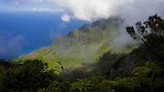 Timelapse, Kalalau Lookout, Napali Coast, Kokee State Park,  Kauai, Hawaii