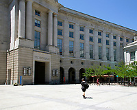 Ronald Reagan Building, , Washington DC still almost deserted with the ongoing covid pandemic photo by Catherine Brown