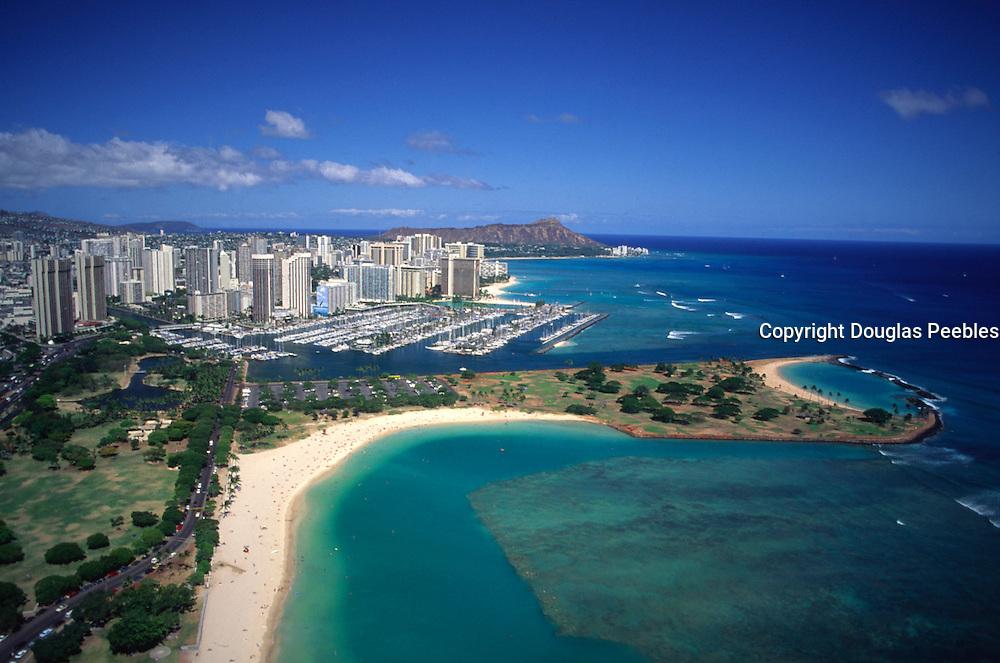Ala Moana Beach Park, Waikiki, Oahu, Hawaii, USA<br />