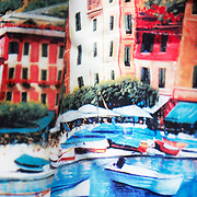 painted apron of the Italian riviera