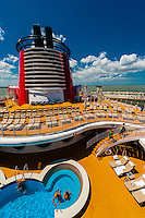 Disney Dream cruise ship, sailing between Florida and the Bahamas