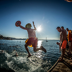 20170101: SLO, Events - Traditional New Year's jump into the sea in Portoroz