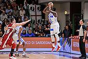 DESCRIZIONE : Campionato 2014/15 Dinamo Banco di Sardegna Sassari - Openjobmetis Varese<br /> GIOCATORE : Rakim Sanders<br /> CATEGORIA : Tiro Tre Punti Three Points Controcampo<br /> SQUADRA : Dinamo Banco di Sardegna Sassari<br /> EVENTO : LegaBasket Serie A Beko 2014/2015<br /> GARA : Dinamo Banco di Sardegna Sassari - Openjobmetis Varese<br /> DATA : 19/04/2015<br /> SPORT : Pallacanestro <br /> AUTORE : Agenzia Ciamillo-Castoria/L.Canu<br /> Predefinita :