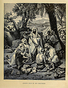 Joseph sold by his Brethren from ' The Doré family Bible ' containing the Old and New Testaments, The Apocrypha Embellished with Fine Full-Page Engravings, Illustrations and the Dore Bible Gallery. Published in Philadelphia by William T. Amies in 1883