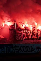 10.12.2011, UPC Arena, Graz, AUT, 1. FBL, SK Puntigamer Sturm Graz vs FK Austria Wien, im Bild bengalische Feuer bei den Sturm Fans, EXPA Pictures © 2011, PhotoCredit: EXPA/ Erwin Scheriau
