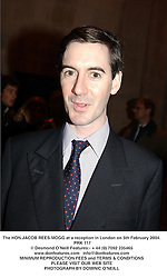 The HON.JACOB REES-MOGG at a reception in London on 5th February 2004.<br /> PRK 117
