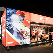 © Maria Muina I MAPFRE. The team base and the MAPFRE Boulevard at the Itajaí Race Village from the Volvo Ocean Race. /La base del equipo y el MAPFRE Boulevard en el Race Village de la Volvo Ocean Race en Itajaí (Brasil).