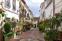 Old Town, Casco Antiguo, Estepona, Spain, 201903080455<br /><br />Copyright Image from Victor Patterson, Belfast, UK, BT9 5HG<br /><br />t: +44 28 9066 1296 <br />(from Rep of Ireland 048 9066 1296) <br />m: +44 7802 353836 <br />victorpattersonbelfast@gmail.com <br />www.victorpatterson.com<br /><br />Please see my Terms and Conditions of Use at https://www.victorpatterson.com/page2 <br /><br />It is IMPORTANT that you familiarise yourself with them.<br /><br />Images used on the Internet incur an additional cost and must be visibly watermarked i.e. © Victor Patterson within the body of the image and copyright metadata must not be deleted. Images used on the Internet have a size restriction of 4kbs and are chargeable at rates available at victorpatterson.com.<br /><br />This image is only available for the use of the download recipient i.e. television station, newspaper, magazine, book publisher, etc, and must not be passed on to any third party. It is also downloaded on condition that each and every usage is notified within 7 days to victorpattersonbelfast@gmail.com<br /><br />The right of Victor Patterson to be identified as the author is asserted in accordance with The Copyright Designs And Patents Act (1988). All moral rights are asserted.