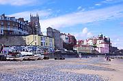 AMHJFB Cromer beach and town Norfolk England