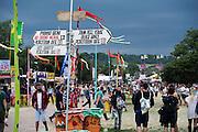 Storm clouds gather. The 2014 Glastonbury Festival, Worthy Farm, Glastonbury. 26 June 2013.  Guy Bell, 07771 786236, guy@gbphotos.com