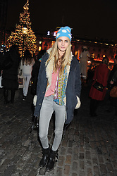 CARA DELVINGNE at a Winter Party hosted by Tiffany to celebrate the opening of the Ice Rink at Somerset House for Christmas 2011 held on 21st November 2011.