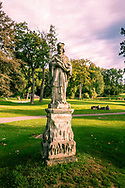 18-09-2015: Golf & Spa Resort Konopiste in Benesov, Tsjechië.<br /> Foto: Veel oude beelden rond het hoofdgebouw