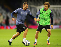 Mateo Kovacic and Luka Modric of Real Madrid<br /> <br /> Photographer Kevin Barnes/CameraSport<br /> <br /> UEFA Champions League Final - Training session - Juventus v Real Madrid - Friday 2nd June 2017 - Principality Stadium - Cardiff<br />  <br /> World Copyright © 2017 CameraSport. All rights reserved. 43 Linden Ave. Countesthorpe. Leicester. England. LE8 5PG - Tel: +44 (0) 116 277 4147 - admin@camerasport.com - www.camerasport.com