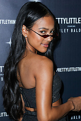 WEST HOLLYWOOD, LOS ANGELES, CA, USA - NOVEMBER 05: PrettyLittleThing X Hailey Baldwin Launch Event held at Catch LA Restaurant on November 5, 2018 in West Hollywood, Los Angeles, California, United States. 05 Nov 2018 Pictured: Karrueche Tran. Photo credit: Xavier Collin/Image Press Agency/MEGA TheMegaAgency.com +1 888 505 6342