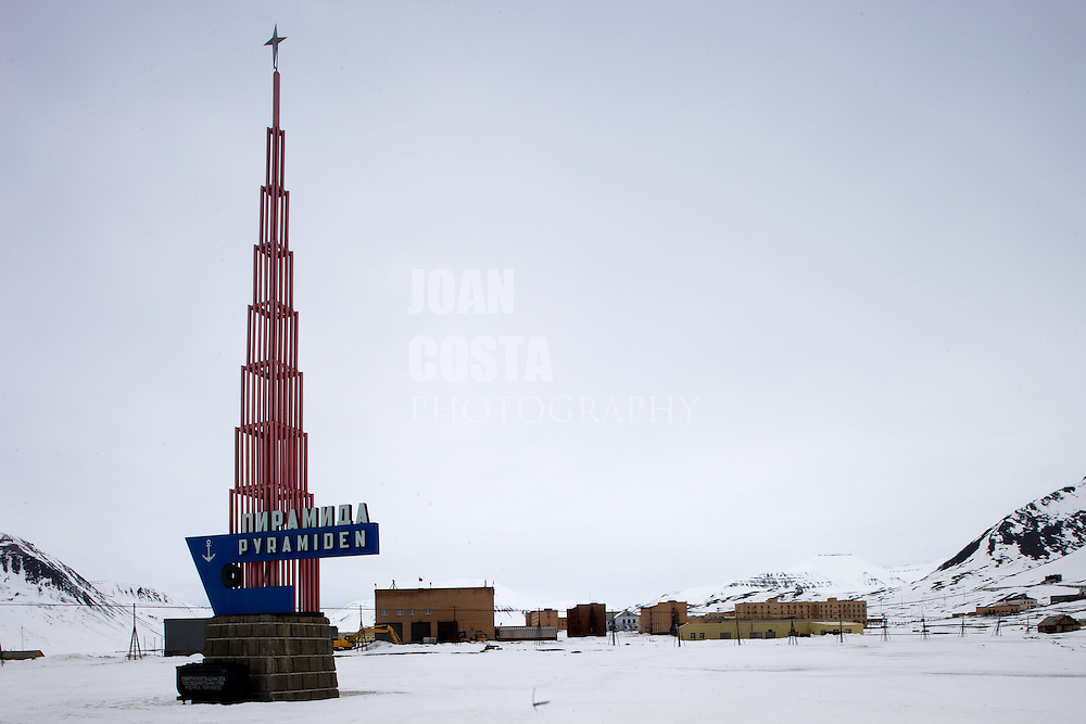 Áritco. Islas Svalbards.Pueblo abandonado de Pyramiden..© JOAN COSTA
