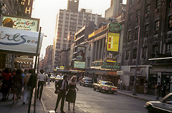 The Theater District in New York during the 70's