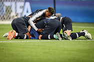Antoine Griezmann of France with teammates celebrate after winning the 2018 FIFA World Cup Russia, Semi Final football match between France and Belgium on July 10, 2018 at Saint Petersburg Stadium in Saint Petersburg, Russia - Photo Thiago Bernardes / FramePhoto / ProSportsImages / DPPI