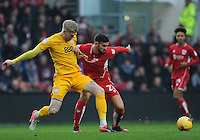 Bristol City's Marlon Pack is fouled by Preston North End's Simon Makienok<br /> <br /> Photographer Ashley Crowden/CameraSport<br /> <br /> The EFL Sky Bet Championship - Bristol City v Preston North End - Saturday 17th December 2016 - Ashton Gate - Bristol<br /> <br /> World Copyright © 2016 CameraSport. All rights reserved. 43 Linden Ave. Countesthorpe. Leicester. England. LE8 5PG - Tel: +44 (0) 116 277 4147 - admin@camerasport.com - www.camerasport.com