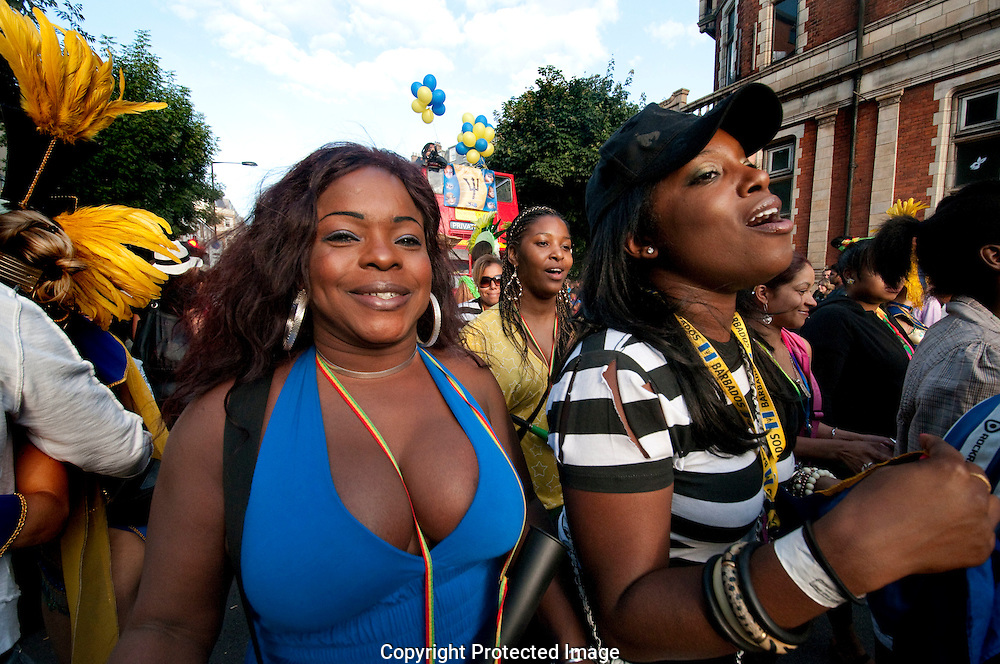Notting Hill annual West Indian Carnival in the streets of West London.