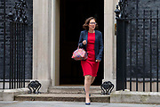 Baroness Evans of Bowes Park  Leader of the House of Lords  leaves 10 Downing Street following a weekly cabinet meeting on 25th June 2019 in London, United Kingdom.