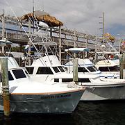 Vakantie Miami Amerika, vissersboten in de haven van Key Largo Florida