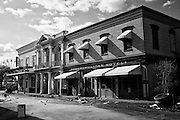 The Cosmopolitan Hotel, Orpheum Theatre and Main Street Fudge Shop on Main Street Square at Six Flags in East New Orleans - five years later after Hurricane Katrina.
