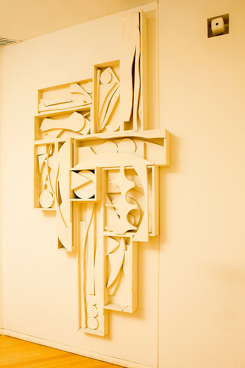 A crucifix by sculptor Louise Nevelson in  the Chapel of the Good Shepherd of St. Peter's Church.