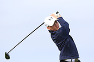 Luke Cunningham (Galway Bay) on the 1st tee during Round 2 of the Connacht U16 Boys Amateur Open Championship at Galway Bay Golf Club, Oranmore, Galway on Wednesday 17th April 2019.<br /> Picture:  Thos Caffrey / www.golffile.ie