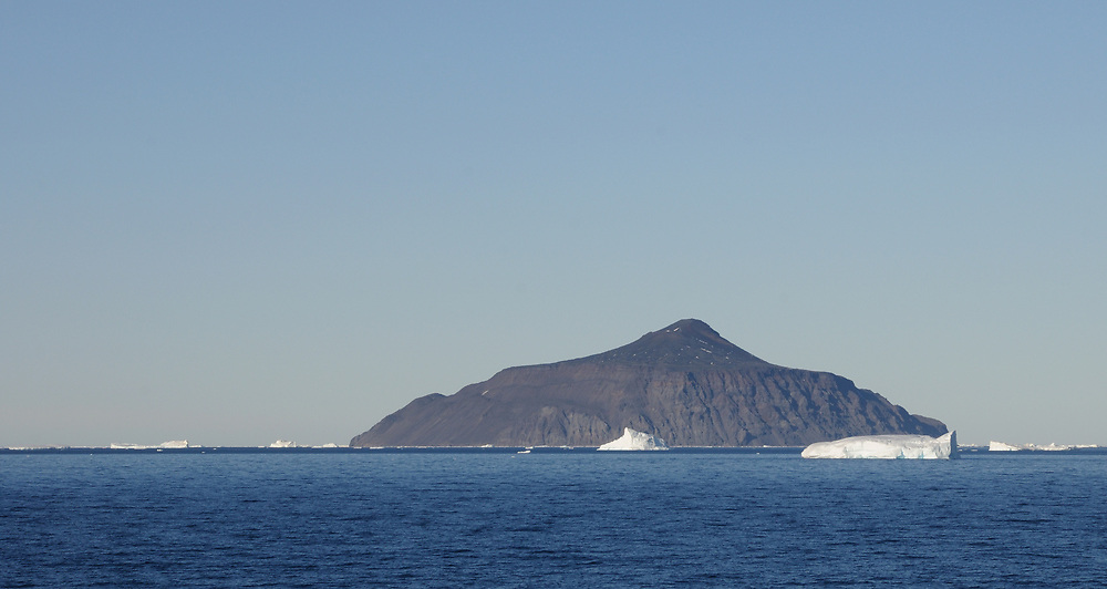 The volcanic slopes of Paulet Island.  Paulet Island, Antarctic Peninsula. Antarctica. 02Mar16