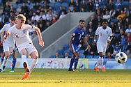 Thomas Doyle of England (8) scores penalty during the UEFA European Under 17 Championship 2018 match between England and Israel at Proact Stadium, Whittington Moor, United Kingdom on 4 May 2018. Picture by Mick Haynes.