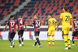 """Foto Filippo Rubin<br /> 28/09/2020 Bologna (Italia)<br /> Sport Calcio<br /> Bologna - Parma - Campionato di calcio Serie A 2020/2021 - Stadio """"Renato """"Dall'Ara<br /> Nella foto: ESULTANZA GOAL BOLOGNA RODRIGO PALACIO (BOLOGNA FC)<br /> <br /> Photo Filippo Rubin<br /> September 28, 2020 Bologna (Italy)<br /> Sport Soccer<br /> Bologna vs Parma - Italian Football Championship League A 2020/2021 - """"Renato Dall'Ara"""" Stadium <br /> In the pic: CELEBRATION GOAL BOLOGNA RODRIGO PALACIO (BOLOGNA FC)"""