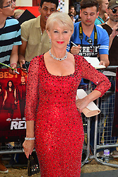 Red 2 UK film premiere.<br /> Dame Helen Mirren during the premiere of the sequel to 2010's graphic novel adaption, about a group of retired assassins. <br /> Empire Leicester Square<br /> London, United Kingdom<br /> Monday, 22nd July 2013<br /> Picture by Nils Jorgensen / i-Images