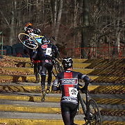 Competitors in action during the Cyclo-Cross, Supercross Cup 2013 UCI Weekend at the Anthony Wayne Recreation Area, Stony Point, New York. USA. 24th November 2013. Photo Tim Clayton