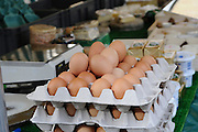 France, Paris, an outdoor, street food market fresh farm eggs for sale