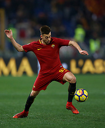 February 11, 2018 - Rome, Italy - Stephan El Shaarawy of Roma during the serie A match between AS Roma and Benevento Calcio at Stadio Olimpico on February 11, 2018 in Rome, Italy. (Credit Image: © Matteo Ciambelli/NurPhoto via ZUMA Press)
