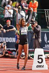 Sanya Richards-Ross, Women's 400 meters, champion, Olympian, acknowledges crowd