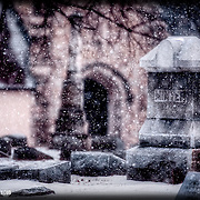 Elmwood Cemetery, on Truman Road in Kansas City, Missouri - one of the oldest cemeteries in the City.